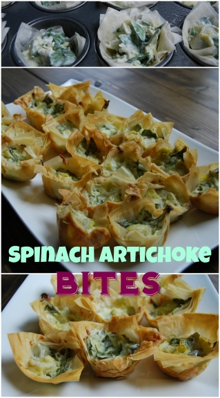 Spinach Artichoke biites pppin